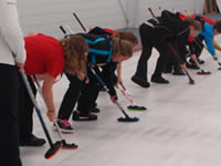 Junior curling clinic photo